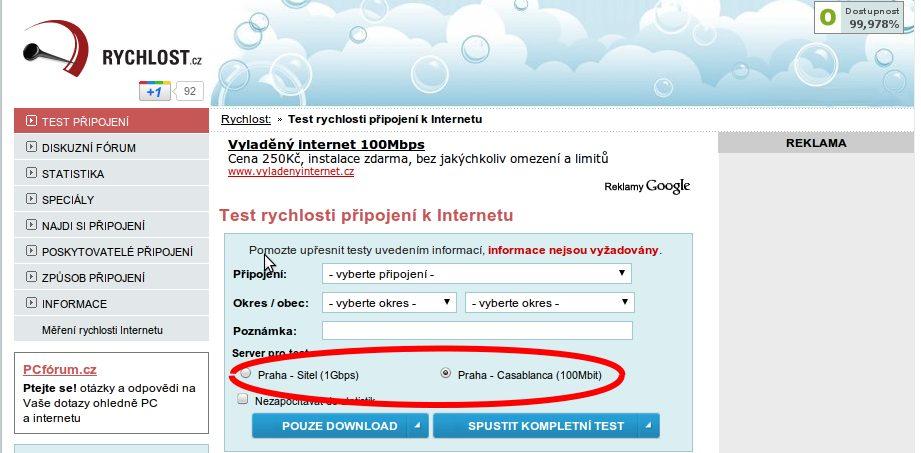 Jak objektivně změřit rychlost internetu